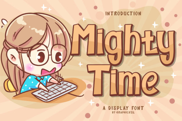 Print on Demand: Mighty Time Display Font By Graphicxell
