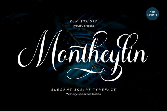 Print on Demand: Montheylin Script & Handwritten Font By Din Studio