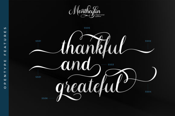 Montheylin Font Preview