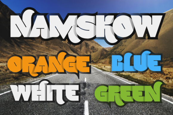 Print on Demand: Namskow Color Fonts Font By glukfonts