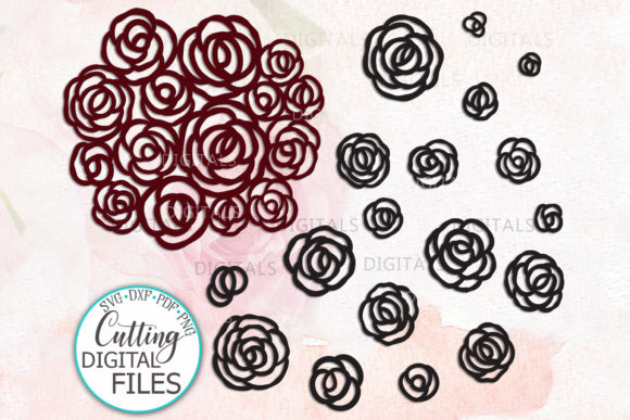 Roses Big Bundle Flowers Bouquet Graphic Crafts By Cornelia