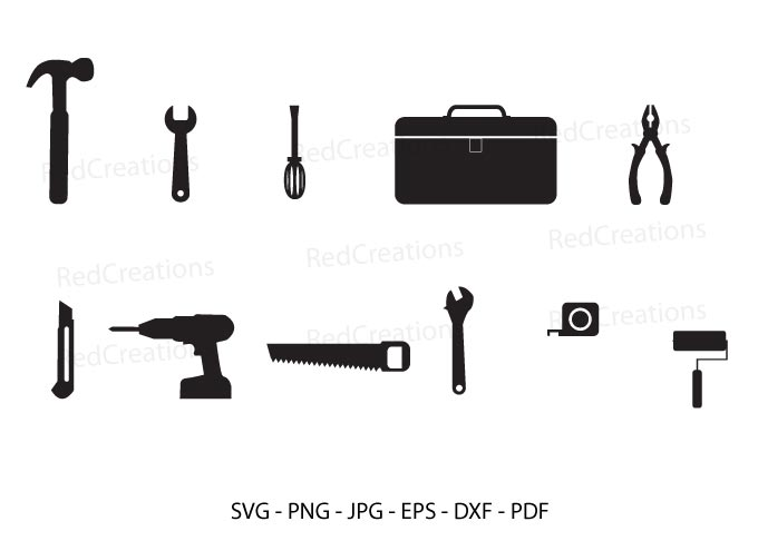 Tools Silhouette SVG File