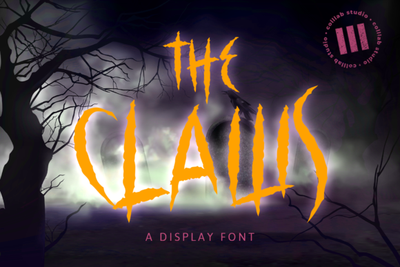 Print on Demand: The Claws Display Font By colllabstudio