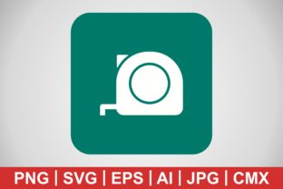 Print on Demand: Vector Measuring Tape Icon Graphic Icons By IYIKON