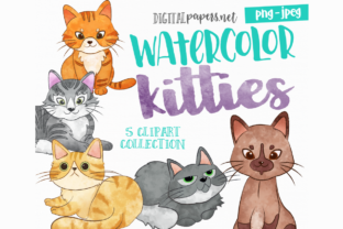 Print on Demand: Watercolor Kitties Graphic Illustrations By DigitalPapers