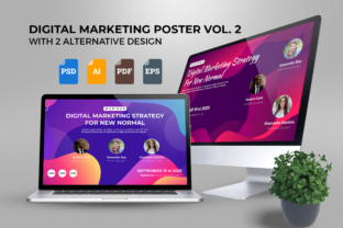 Print on Demand: Webinar Digital Marketing Poster Vol. 02 Graphic UX and UI Kits By ibeydesign