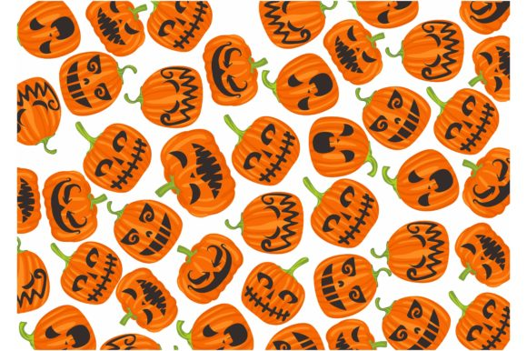 Print on Demand: Pattern with Halloween Pumpkin Theme Graphic Crafts By Arief Sapta Adjie II