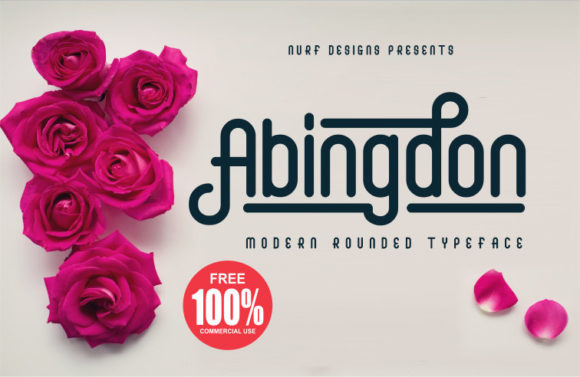 Print on Demand: Abingdon Display Font By nurfdesigns