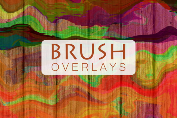 Print on Demand: Acrylic Painted Brush Stroke Overlays Graphic Textures By Prawny