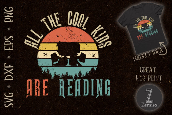 Print on Demand: All the Cool Kids Are Reading Graphic Print Templates By Zemira