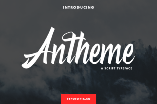 Print on Demand: Antheme Script & Handwritten Font By typotopia