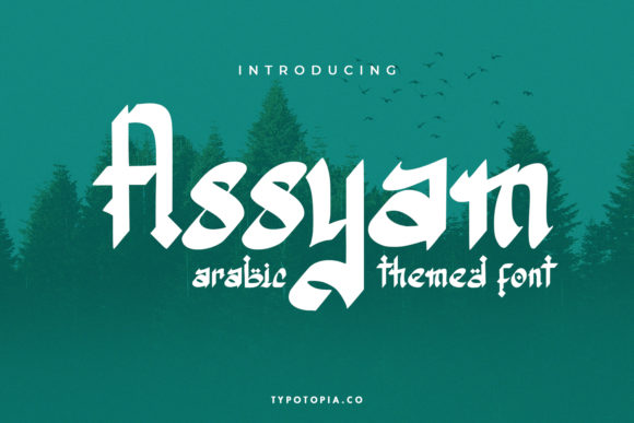 Print on Demand: Assyam Display Font By typotopia