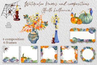Print on Demand: Autumn Clipart. Yellow and Gree Pumpkin Graphic Illustrations By ElenaZlataArt