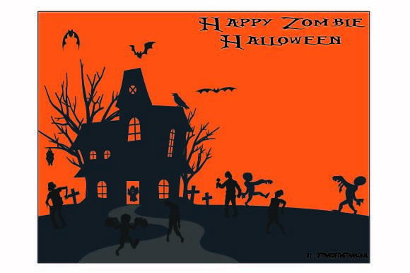 Background Silhouette Halloween Graphic Illustrations By optimasipemetaanlokal
