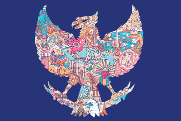 Beautiful Indonesia in Garuda Silhouete Graphic Illustrations By nantachi