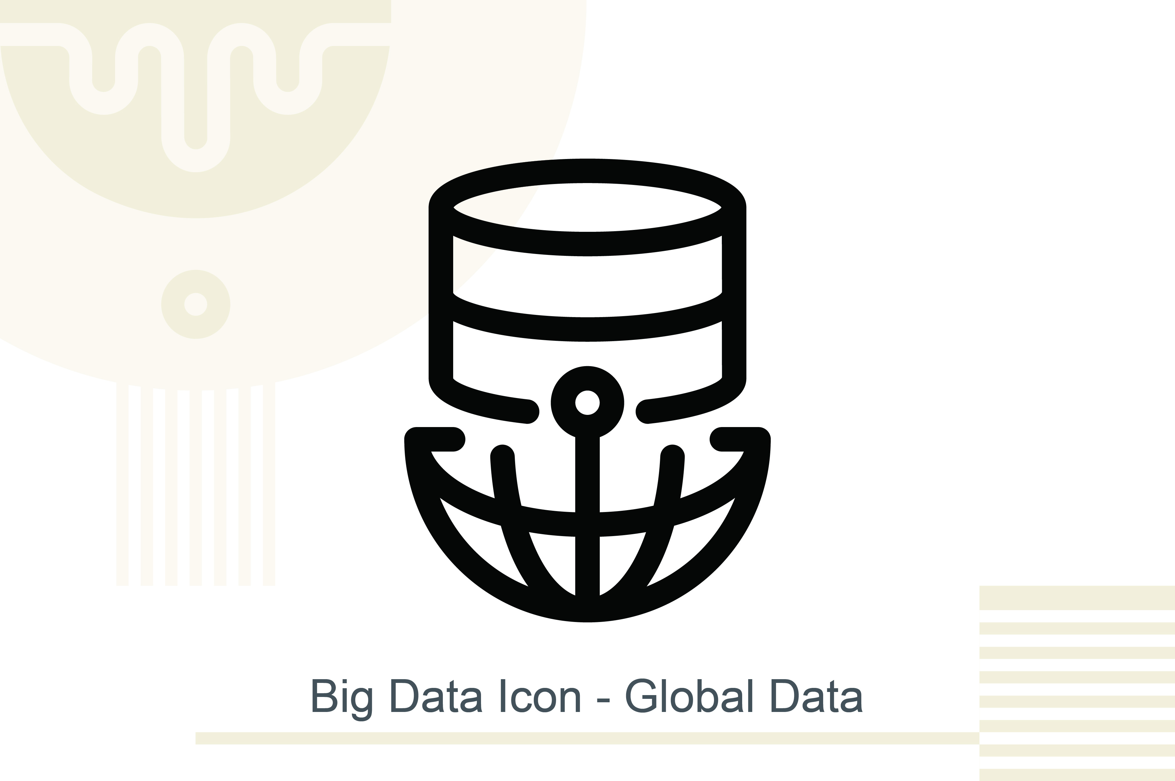 Big Data Icon Global Data Graphic By Melindagency Creative Fabrica Big data icon set, data analytic icon set, information technology. creative fabrica