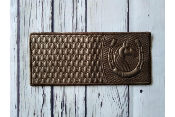 Billfold in the Hoop Purse - Horseshoe Embroidery Download