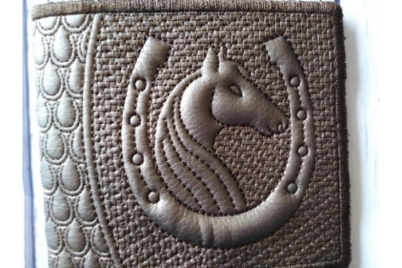 Billfold in the Hoop Purse - Horseshoe Embroidery Item