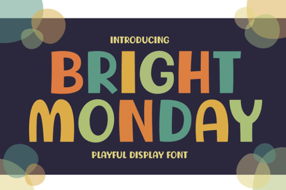 Print on Demand: Bright Monday Display Font By Archetype Fonts