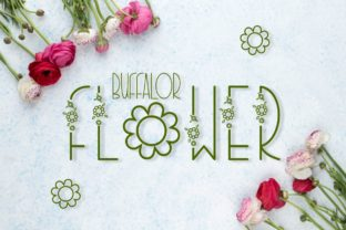 Print on Demand: Buffalor Flower Decorative Font By Pidco.art