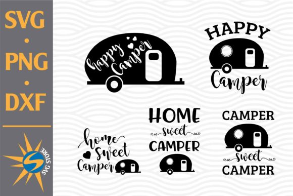 Print on Demand: Camper Design Bundle Graphic Crafts By SVGStoreShop