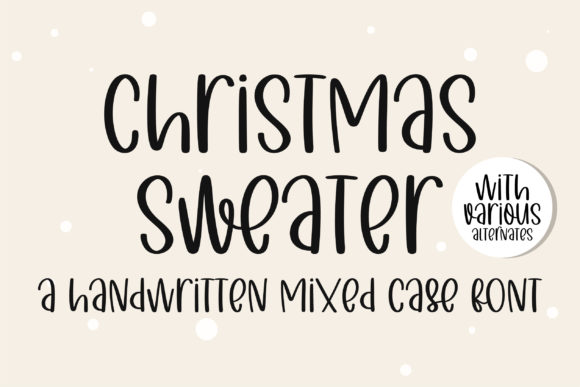 Print on Demand: Christmas Sweater Script & Handwritten Font By BitongType