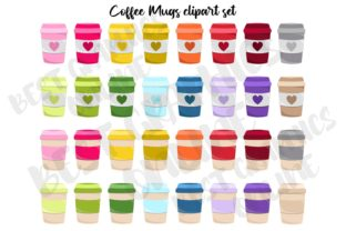Coffee Lover Cup Clipart Set Graphics Graphic Illustrations By bestgraphicsonline