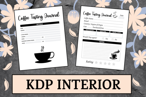 Print on Demand: Coffee Tasting Journal | KDP Interior Graphic KDP Interiors By Hungry Puppy Studio
