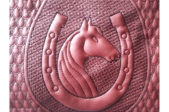 Cosmetic Bag in the Hoop - Horse & Horseshoe Embroidery Design