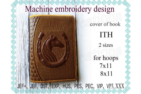 Cover for Book in the Hoop - Horse & Horseshoe Embroidery