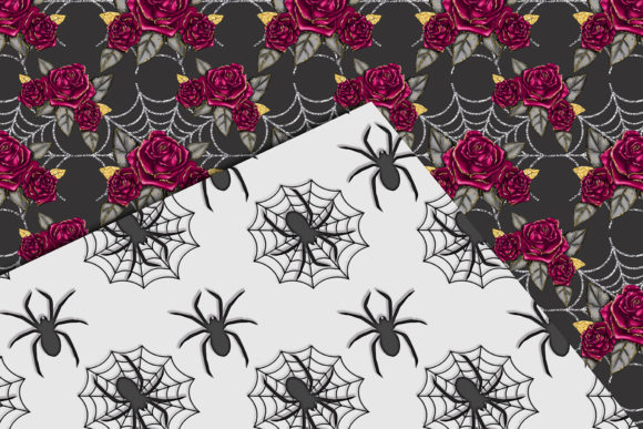 Print on Demand: Cute Halloween Seamless Patterns Graphic Patterns By TheGGShop - Image 3