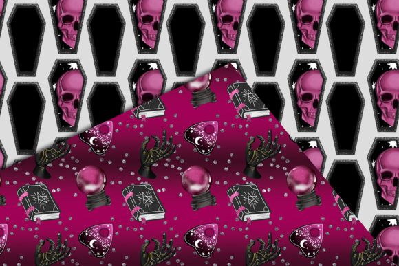 Print on Demand: Cute Halloween Seamless Patterns Graphic Patterns By TheGGShop - Image 4
