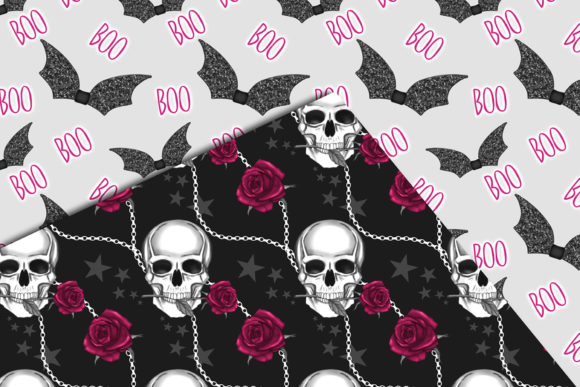 Print on Demand: Cute Halloween Seamless Patterns Graphic Patterns By TheGGShop - Image 8