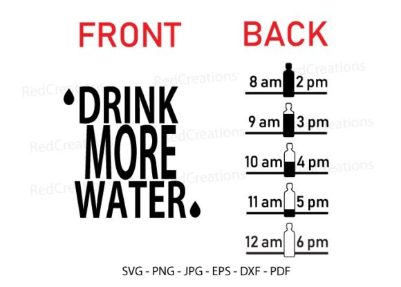 Drink More Water Graphic Crafts By RedCreations