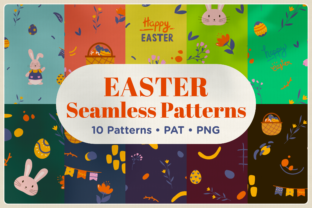 Print on Demand: Easter Holiday Seamless Pattern Graphic Patterns By Telllu