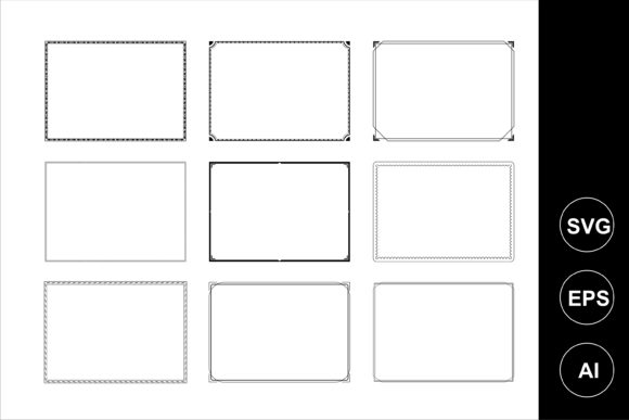 Print on Demand: Frame Beautiful Vector Graphic Graphic Templates By edywiyonopp