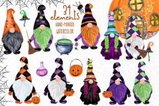 Print on Demand: Gnomes Clipart Halloween Gnomes Clipart Graphic Illustrations By vivastarkids
