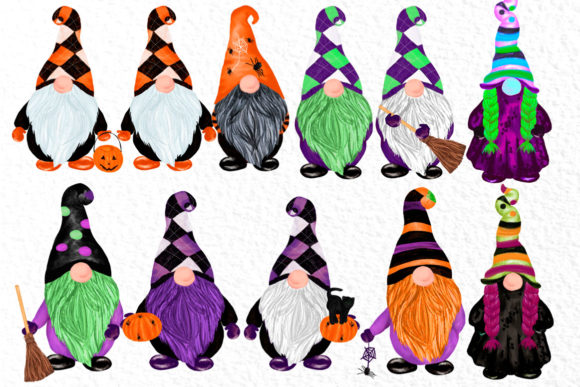 Gnomes Clipart Halloween Gnomes Clipart Graphic Illustrations By vivastarkids - Image 2