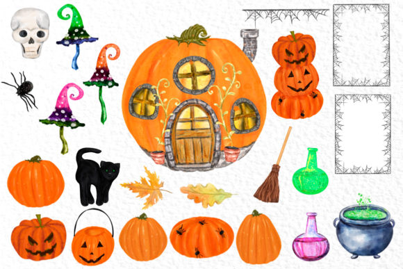 Gnomes Clipart Halloween Gnomes Clipart Graphic Illustrations By vivastarkids - Image 3