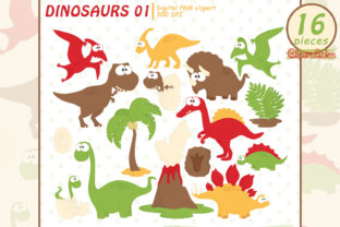 Good Dinosaurs Clipart, Cute Dinosaurs Graphic Illustrations By clipartfables