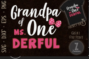 Print on Demand: Grandpa of Ms Onederful 1th Birthday Graphic Print Templates By Zemira