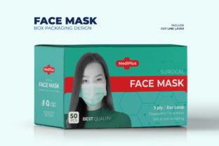 Green Face Mask Box Packaging Template Graphic Print Templates By afahmy