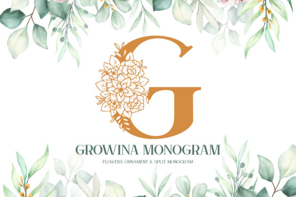 Print on Demand: Growina Monogram Display Fuente Por Monogram Lovers