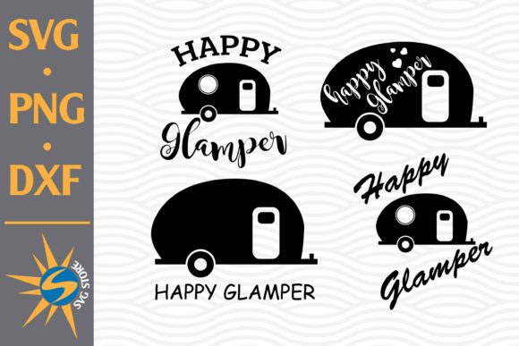 Print on Demand: Happy Glamper Graphic Crafts By SVGStoreShop