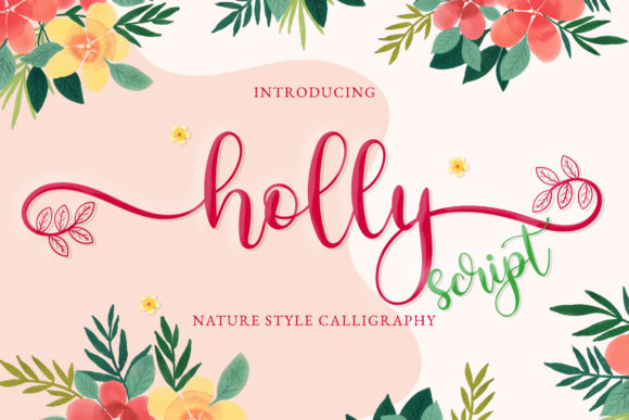 Print on Demand: Holly Script Script & Handwritten Font By airotype
