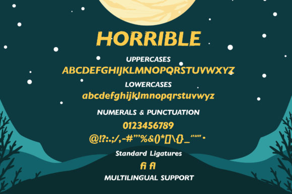 Horrible Font Preview