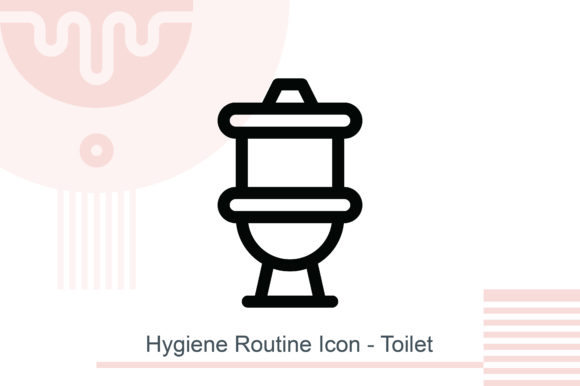 Hygiene Routine Icon - Toilet Graphic Icons By MelindAgency