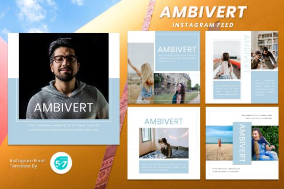 Instagram Feed Template - Ambivert Graphic Presentation Templates By 57creative