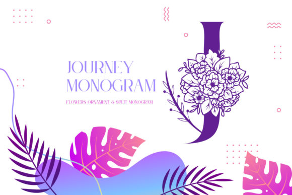 Print on Demand: Journey Monogram Display Font By Monogram Lovers