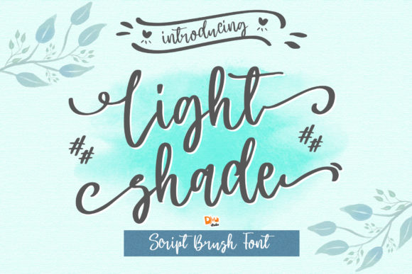 Print on Demand: Light Shade Script & Handwritten Font By dmletter31